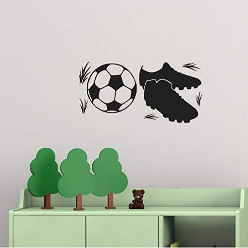 Muursticker, voetbalschoenen 90x45cm PVC DIY art home decor voor kinderkamer woonkamer muurtattoo verwijderbare douane kantoor verjaardagscadeau