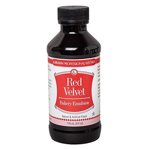 Lorann Oils Sabor Natural y Artificial Bakery Emulsions 118 ml, Tarta de Terciopelo Rojo, Multicolor