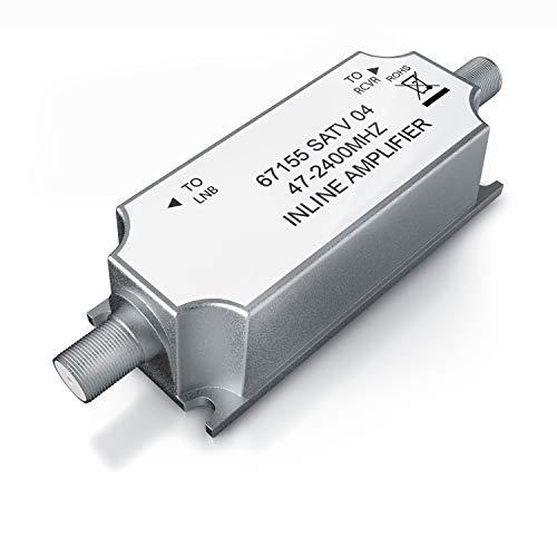 CSL - SAT Antennenverstärker Satelliten Leitungsverstärker - SAT - BK - 47 MHz – 2400 MHz – SAT-Verstärker 20 dB - Signalverstärker DiSEqC, Unicable, SatCR, HDTV, Ultra HD, UHD, DVB-S2
