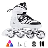 QMMD Inline Skates Adjustable size for Adults, with Light Up Wheels Roller Skates, Professional Roller Blades...