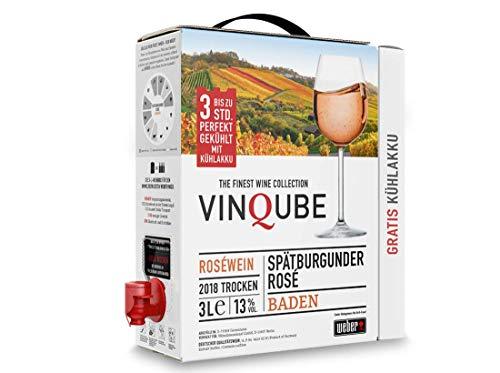 Vinqube | Spätburgunder Rosé | Baden | (1x 3l) Bag-in-Box mit wiederverwendbaren Kühlakku