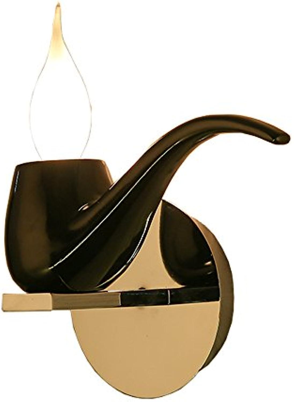 Kreativitt Harz Rohr Wandleuchte Wohnzimmer Schlafzimmer Nachtwand Wandleuchte Moderne Einfache Mode Eisen Wandleuchte (Farbe   Schwarz)
