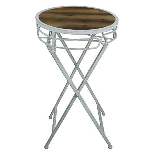 PrimoLiving Blumenhocker/Beistelltisch aus Metall/Holz klappbar P-239 rund grau