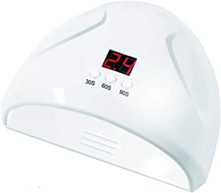 Clavo De La Lámpara Uñas Secador De La Lámpara USB Con Sensor Inteligente De Potencia De Tres Fases De Sincronización De Uñas Lámpara Adecuada Para Estudio De Manicura, 36W,Blanco