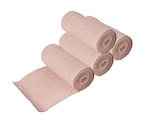 NextGen Active Elastic Compression Bandages (4 Pack) 4 inch x 15 feet with Hook and Loop Closure: Sport Injury and Support.