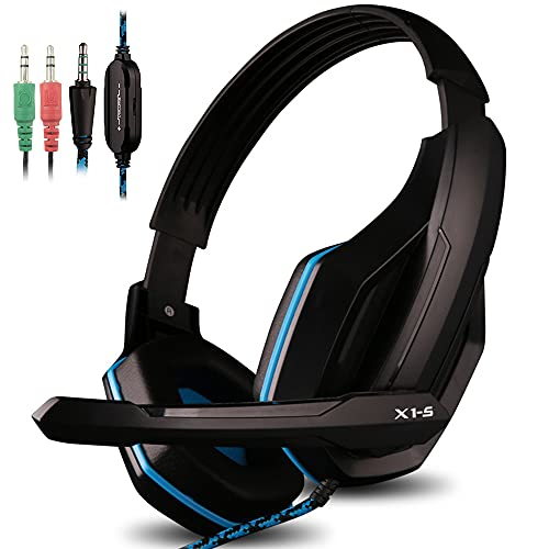 afunta headphones bluetooths AFUNTA Gaming Headset Compatible PS4 PC Smart Phone Laptop Tablet Mobilephones MP3 MP4,OVAN X1-S 4 Pin 3.5mm Jack Multi Function Game Headphones with Mic