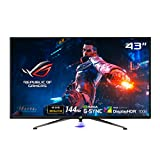 ASUS ROG Swift PG43UQ DSC Gaming Monitor, 43' 4K UHD, 3840 x 2160, 144 Hz, G-Sync, DSC, DisplayHDR 1000, DCI-P3 90%, Shadow Boost