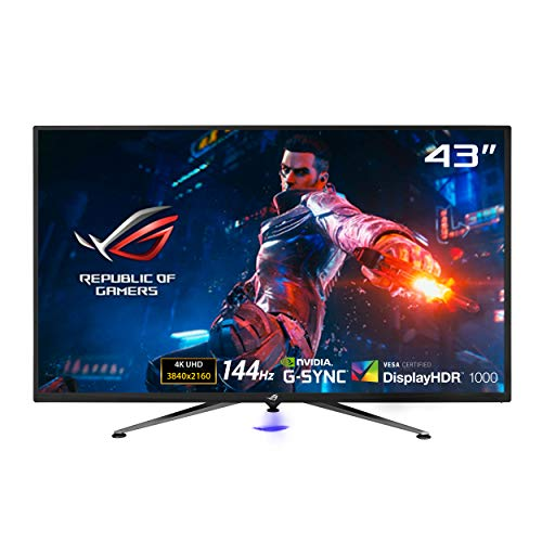 "ASUS ROG Swift PG43UQ DSC Gaming Monitor, 43"" 4K UHD, 3840 x 2160, 144 Hz, G-Sync, DSC, DisplayHDR 1000, DCI-P3 90%, Shadow Boost"