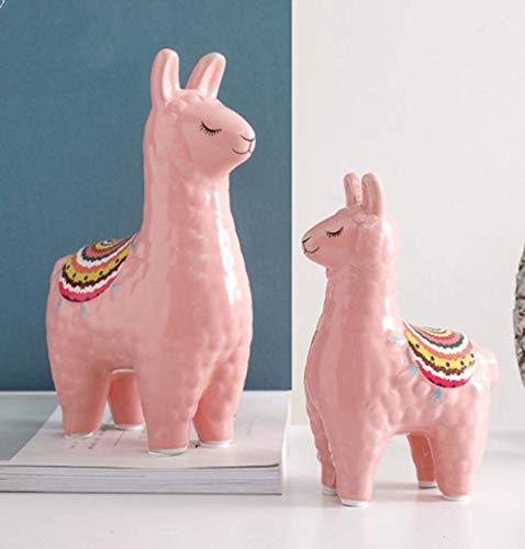 IREANJ Decoraciones del Arte del Arte de la Alpaca decoración de salón de Oficina Estudio en el hogar de Escritorio Hucha de cerámica Decoración