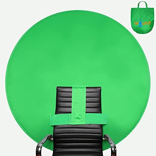 Webaround Big Shot 142 | Tragbarer, zusammenklappbarer Webcam-Hintergrund | Video Chat | Webkonferenz | Grüner Bildschirm für Stuhl | Von zu Hause aus arbeiten | Virtuellen Hintergrund zoomen | Skype*