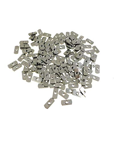 1/4-20 Spot Weld Nuts - Double Tab - Center Hole Design Spot Weld Nut - Low-Carbon Steel (50 Pack)