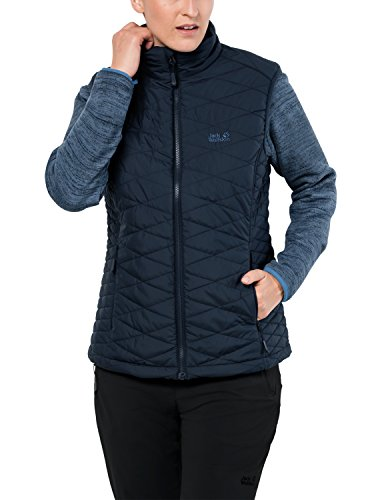 Jack Wolfskin Damen Aquila Glen 3-IN-1 Winddicht Fleece & Weste Kombination, Damen, Midnight Blue, X-Small
