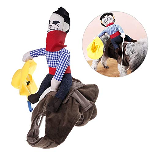 UEETEK Pet Costume Dog Costume Clothes Pet Outfit Suit Cowboy Rider Style,Fits Dogs Weight Under 7 KG
