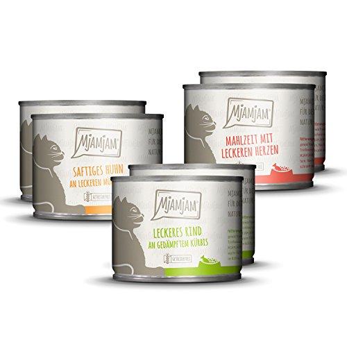 MjAMjAM - Leckere Mahlzeiten Mixpaket I für Deine Katze 6 x 200g