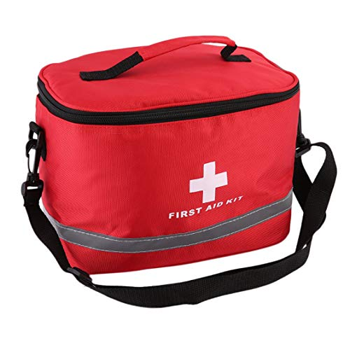 Jessicadaphne Nylon Rouge frappant Croix Symbole Haute densité Ripstop Sports Camping Maison médicale d'urgence Survie Trousse de Premiers Soins Sac à l'extérieur