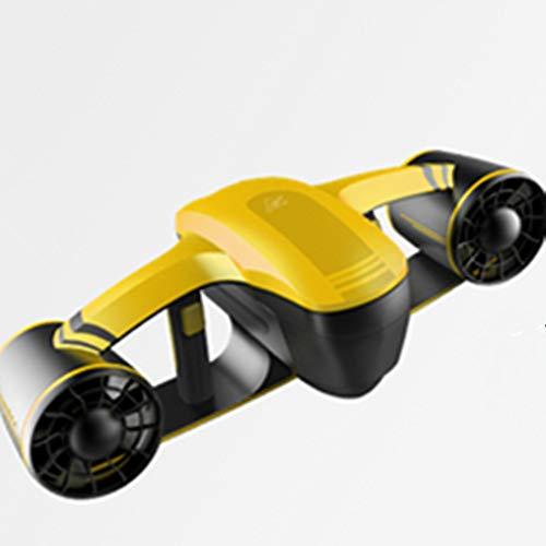 OOLOOYOO Scooter Submarino, Robot Explorer Sumergible Impermeable, Doble Velocidad, propulsor de propulsión, natación y natación,Yellow