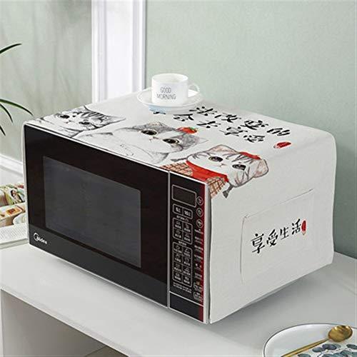 47-B Cubierta de tela para el polvo para horno de microondas, cubierta de encaje para aceite, polvo de cocina, toallas de cocina (color: B)