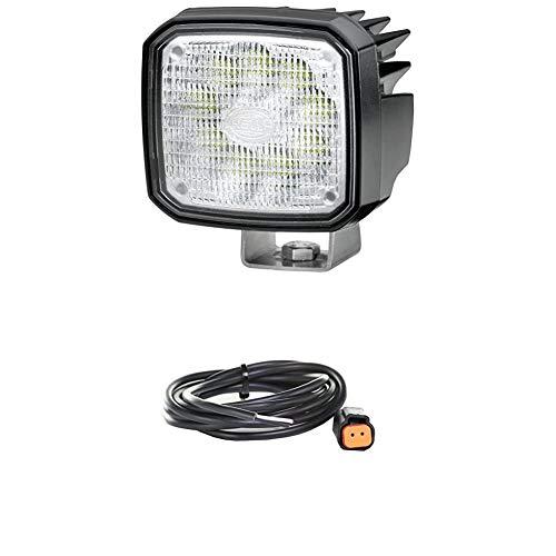 Hella 1GA 995 506-001 Arbeitsscheinwerfer - Ultra Beam - LED - 12V/24V - 2000lm - hängend/stehend - Nahfeldausleuchtung + Kabelsatz, Arbeitsscheinwerfer, 2.000 mm Leitung mit Deutsch-Stecker, Schwarz