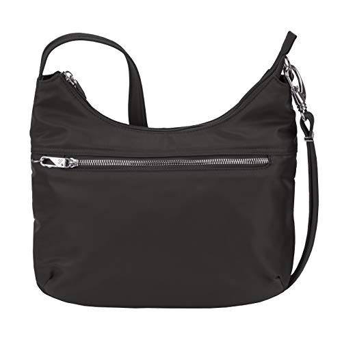 Travelon Women's Anti-Theft Tailored Hobo, Onyx, One Size