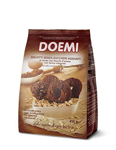 Doemi Biscotti Integrali con Cacao e Avena senza Zuccheri Aggiunti - 12 Confezioni x 450 g