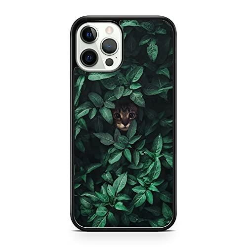 Majestic Cuddly Cat Kitten Animal Elegante Cubierta De La Hoja Verde Cubierta Del Teléfono (Modelo Del Teléfono: Huawei P8 Lite (2017))