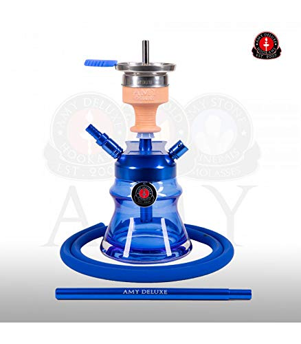 AMY Shisha Alu Sphere Bag 094.03 - blue | kleine Aluminium Wasserpfeife