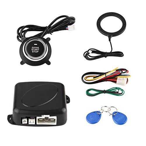 Gorgeri 12V Sistema de alarma de automóvil universal Arrancador de motor Botones de arranque/parada - Kit de bloqueo seguro Sistema de modificación antirrobo para automóviles