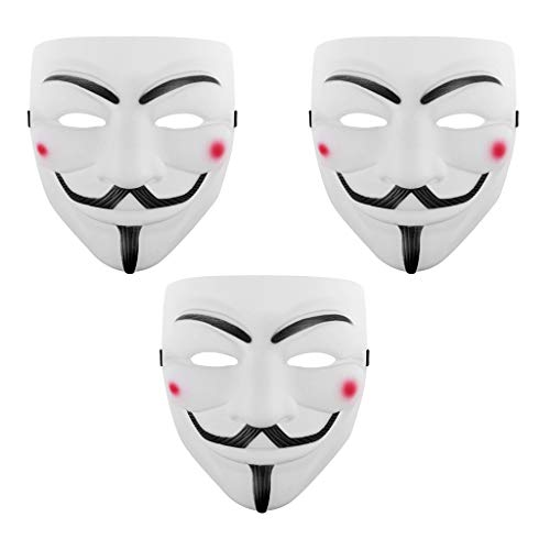 ZERIRA V for Vendetta Mask Hrror Grimace Mask Halloween Cosplay Party Mask with Universal Size