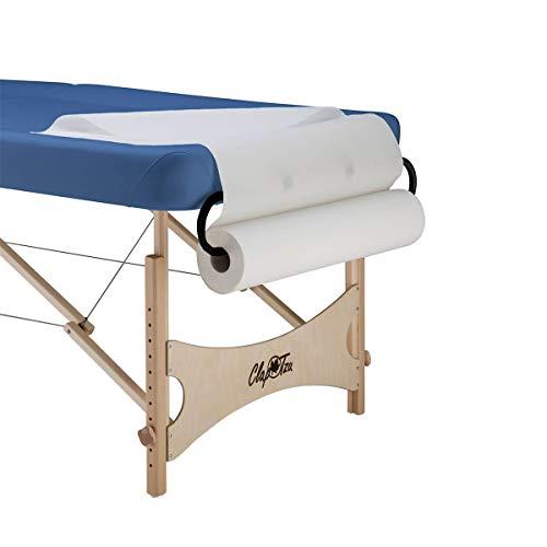 Clap Tzu Papierrollenhalter für Papierüberzüge und Ärztekrepp, einsteckbar am Kopfende, passend für Papierrollen bis zu einer Breite von 75 cm