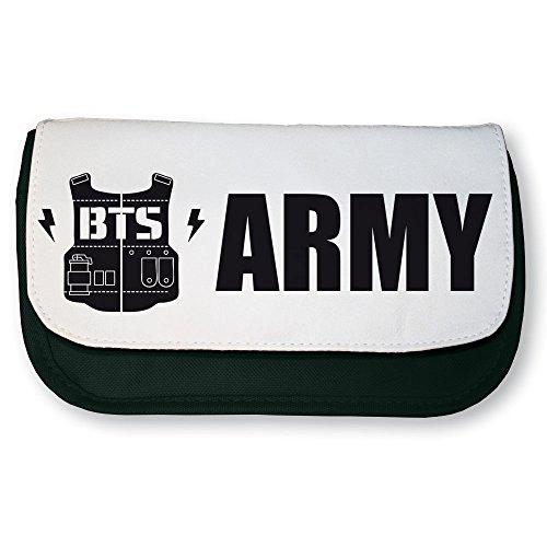 PTP–Estuche escolar negra K-pop BTS Army