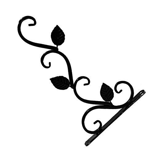 strimusimak Macetero colgante para macetas de metal, para decoración de jardín, balcón, color negro