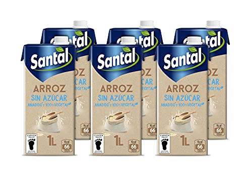 Santal Bebida Vegetal Arroz, Sin Azúcar Añadido, 6 x 1L