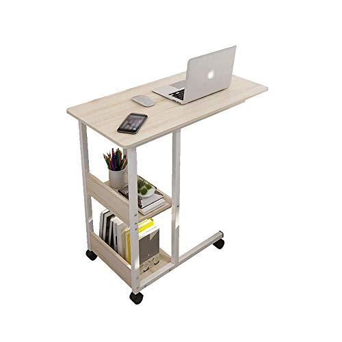 GWFVA Escritorio portátil portátil Lapdesks Mesa para computadora portátil - con polea bloqueable Mesa para computadora portátil de Altura Fija Mesa de Lectura para Cama Holgada Mesa para computad