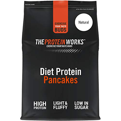 THE PROTEIN WORKS Diet Protein Pancake Mix | High Protein, Low Sugar Snack | Quick & Easy To Make | Natural | 1 Kg