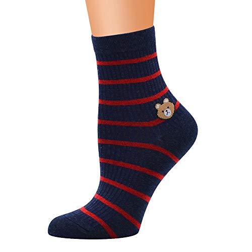 IFOUNDYOU Striped Socks Frauen-nette horizontale Liebes-Muster-Dame Socks Tube Socks