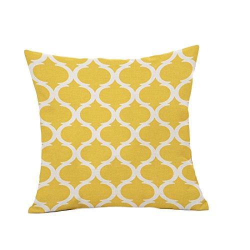 Luwu-Store Housse de Coussin décoratif géométrique en Polyester décoration créative Compatible pour Housses de canapé Couleur de Sol