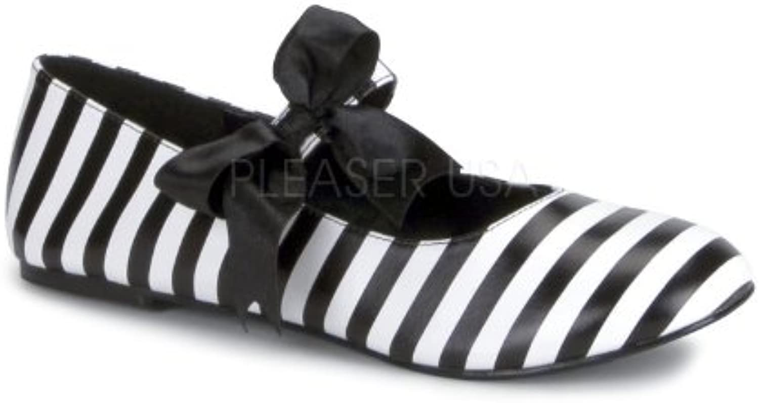 Women's Junior's Striped Flat With Bow Detail