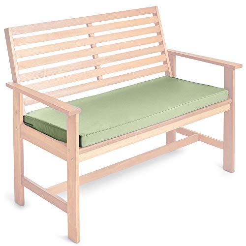 VonHaus Padded Outdoor Bench Cushion 105cm x 49cm x 5cm 2 Seater Cushion Sage Green