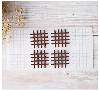 S.Han Silicone Garnishing Grid Chocolate Mould 8 Cavity Mold Baking Cake Decoration Tool Clay Art Craft