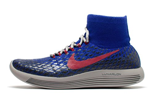 Nike Women's Gyakusou Lunarepic Flyknit Shield Running Shoe (7.5, Deep Royal Blue/White-Black)