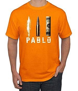 Wild Bobby Pablo Escobar Cocaine Narcos Pop Culture Men s Graphic T-Shirt Orange Large