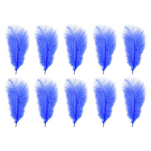 EXCEART 10 Piezas de Plumas de Arte Artesanal Plumas de Bricolaje Ramo de Relleno de Jarrón Atrapasueños Centros de Mesa para Bodas Decoración de Muebles (Azul)