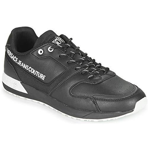 Versace Jeans Couture Yzasc4 Zapatillas Moda Hombres Negro - 43 - Zapatillas Bajas Shoes