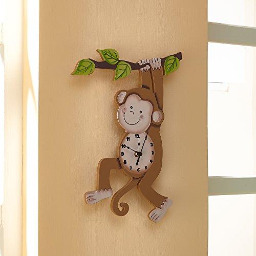 Fantasy Fields Sunny Safari Collection Clock, Wood, Braun