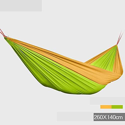 Camping hangmat Buiten enkele dubbele hangmat parachute doek swing steun 150kg for reizen camping strand (Color : Green, Size : 260 * 140cm)