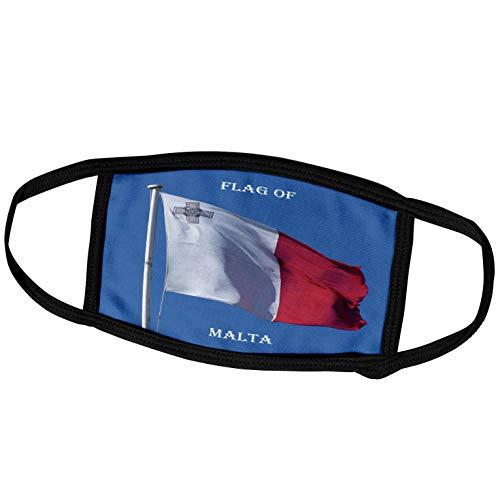 3dRose fm_211335_1 Face Mask Large Gesichtsmaske, Polyester, Flagge Malta Foto