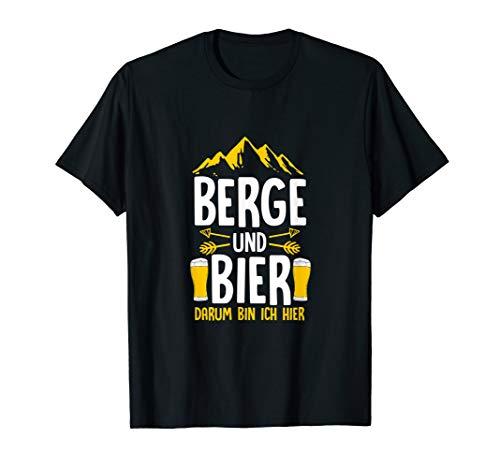 Berge und Bier T-Shirt Bergsteiger Bierkrug Wanderer Kostüm
