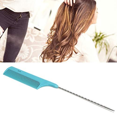 Haarstylingbürste, antistatische Haarbürste, Haarschneidekamm, professionelles tragbares Haar Separater Schwanzkamm Friseursalon Frauen Haarstylingkamm(Blau)