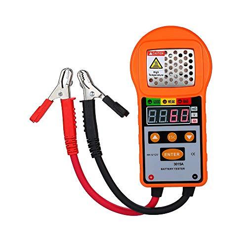 Probador de carga de batería de 6 V 12 V, analizador digital de batería de automóvil Probador de diagnóstico de batería automotriz para camión de servicio pesado, automóvil, mini furgoneta, vehículo