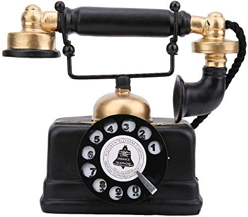 Teléfono Retro, Adorno, teléfono Antiguo Vintage, teléfono Fijo con Cable, decoración del hogar para el hogar, Hotel, Oficina, hogar/Oficina